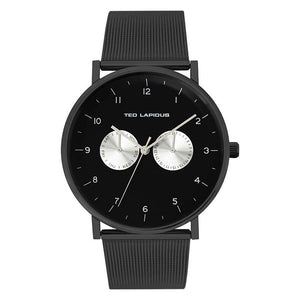 Ted Lapidus Men's Black Dial Stainless Steel Watch - 5132806