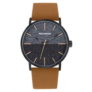 Ted Lapidus Men's Black Dial Brown Leather Strap Watch - 5132903