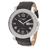 Blade Men's Black Dial Leather Strap Watch 10-3152G-SNN 1