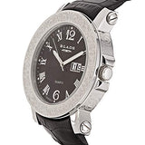 Blade Men's Black Dial Leather Strap Watch 10-3152G-SNN 4