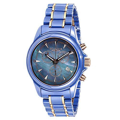 Blade Blue Mother of Pearl Dial Hi Tech Ceramic Multifunction Watch 30-3040G-BHR 1