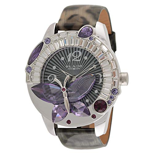 Blade Women's Genuine Leather Stainless Steel Back Analog Watch 15-3260L-SV 1