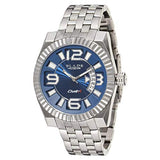 Blade Men's Blue Dial Stainless Steel Analog Watch 10-3237G-SBw 1