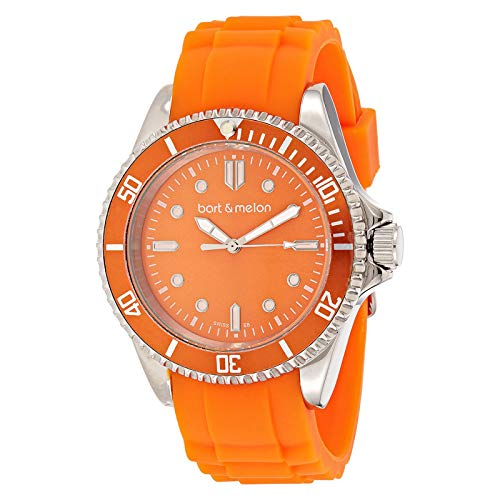 Bart & Melon Unisex Orange Dial Orange Silicon Band Analog Watch 12-NU010-SAA