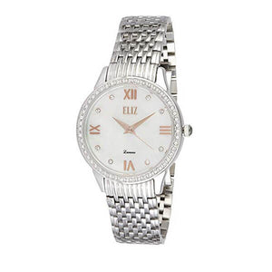 Eliz women's Mother of pearl Dial stainless steel case and back Analog Watch ES8518L2SHR 1