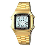 Casio Men's Gold Plated Digital Illuminator Watch - A178WGA-1A