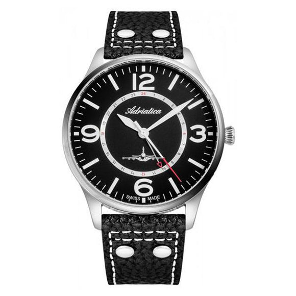 Adriatica Swiss-Made Mens Leather  Watch - A8266.5254Q
