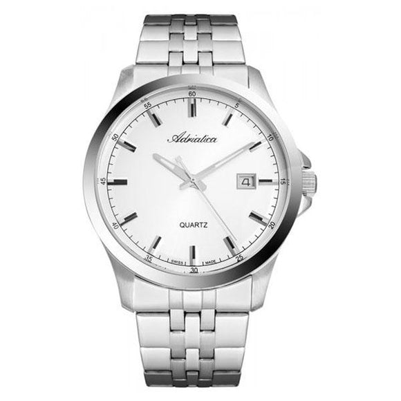 Adriatica Swiss-Made Mens Stainless Steel  Watch - A8304.5113Q
