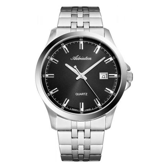 Adriatica Swiss-Made Mens Stainless Steel  Watch - A8304.5114Q