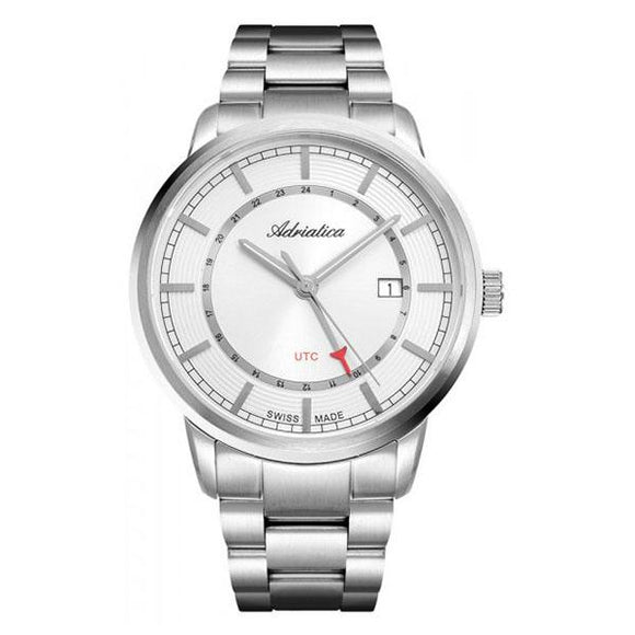 Adriatica Swiss-Made Mens Stainless Steel  Watch - A8307.5113Q