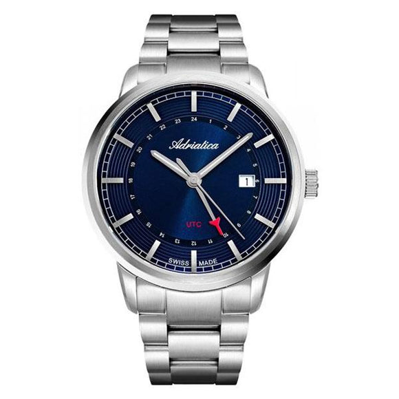 Adriatica Swiss-Made Mens Stainless Steel  Watch - A8307.5115Q