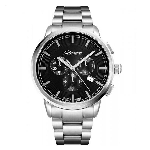 Adriatica Swiss-Made Mens Stainless Steel Chronograph Watch - A8307.5116CH