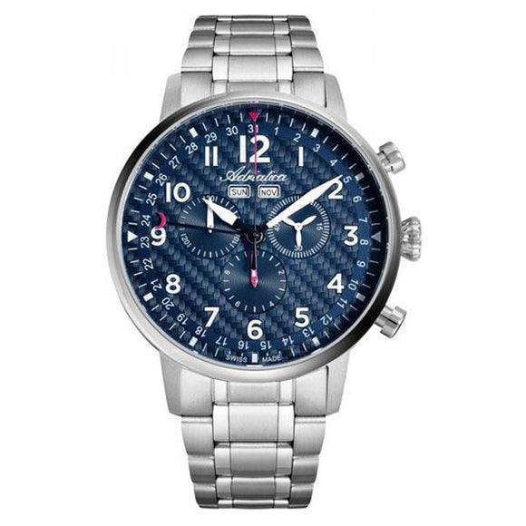 Adriatica Swiss-Made Mens Stainless Steel Chronograph Watch - A8308.5125CH