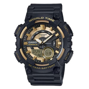 CASIO World Time Analog and Digital Watch - AEQ-110BW-9A