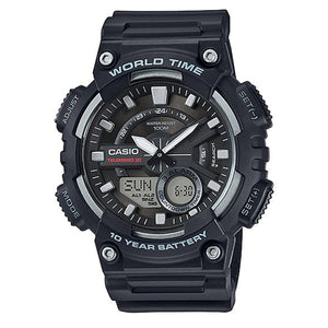 CASIO World Time Analog and Digital Watch - AEQ-110W-1A