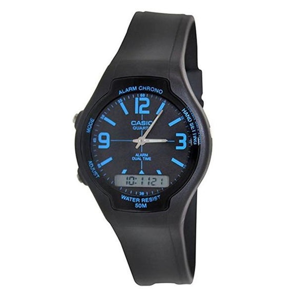 Casio Analog Digital Resin Band Watch - AW-90H-2B