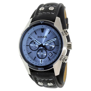 Fossil Men's Blue Dial Leather Strap Analog Watch - CH2564 1
