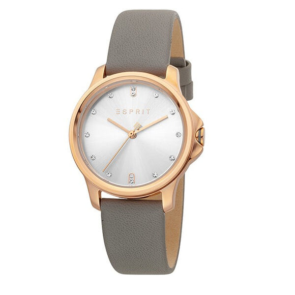 Esprit Women's Rose Dial Leather Strap Analog Watch - ES1L142L0025 1