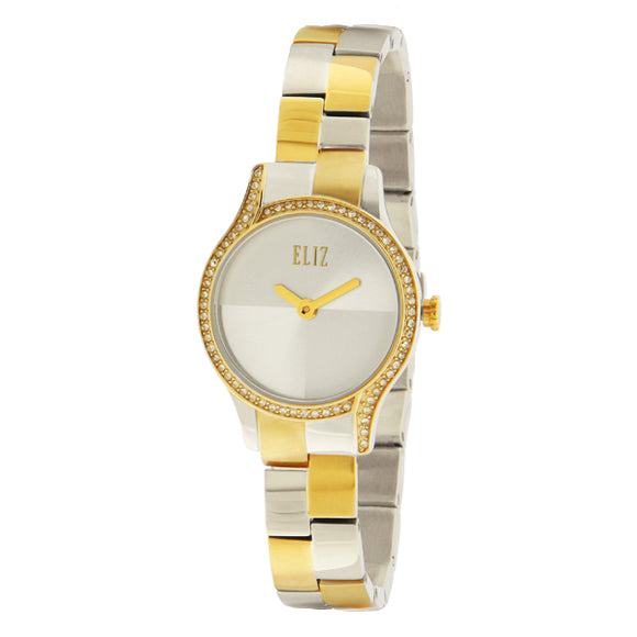 ELIZ Two Tone PVD Gold Plated Stainless Steel Watch - ES25-8500L TST