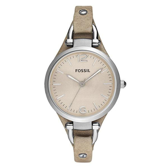 Fossil Women's Beige Dial Leather Strap Analog Watch - ES2830 1