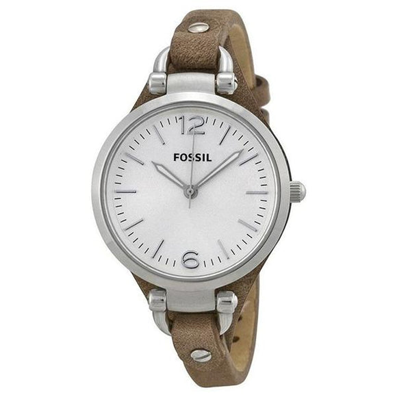 Fossil Women's White Dial Leather Strap Analog Watch - ES3060 1