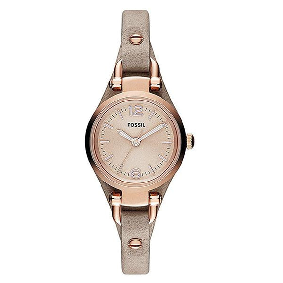 Fossil Women's Rose Dial Leather Strap Analog Watch - ES3262 1