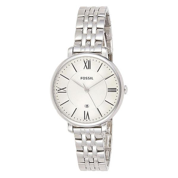 Fossil Women's White Dial Stainless Steel Analog Watch - ES3433 1
