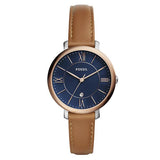 Fossil Women's Blue Dial Leather Strap Analog Watch - ES4274 1