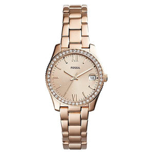 Fossil Women's Rose Gold Stainless Steel Analog Watch - ES4318 1