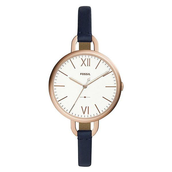 Fossil Women's White Dial Leather Strap Analog Watch - ES4355 1