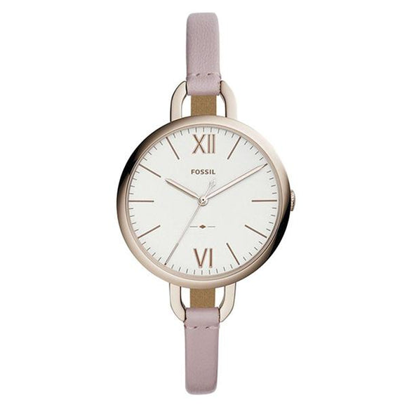 Fossil Women's White Dial Leather Strap Analog Watch - ES4356 1