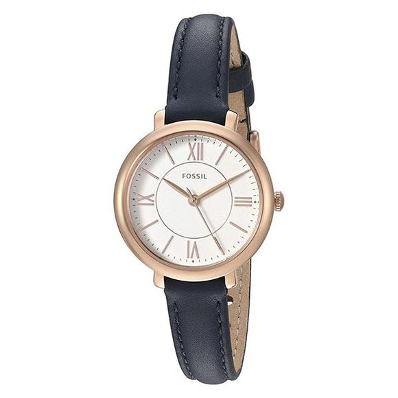 Fossil Women's White Dial Leather Strap Analog Watch - ES4410 1
