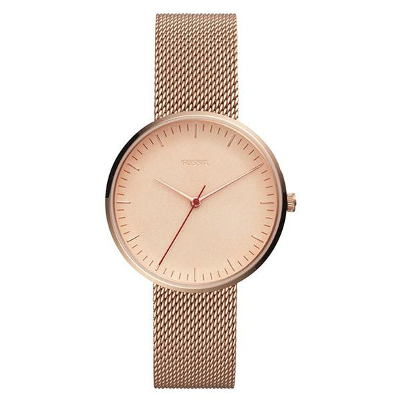 Fossil Women's Rose Gold Plated Stainless Steel Analog Watch - ES4425 1