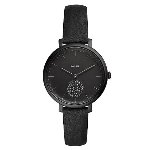 Fossil  Women's Black Dial Leather Strap Analog Watch - ES4490 1