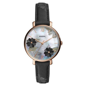Fossil Women's Mother of Pearl Dial Leather Strap Analog Watch ES4535 1