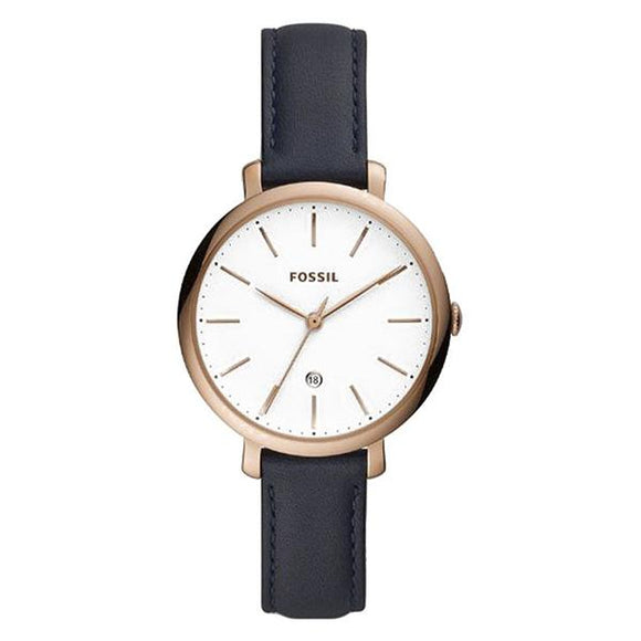 Fossil Women's White Dial Leather Strap Analog Watch - ES4630 1