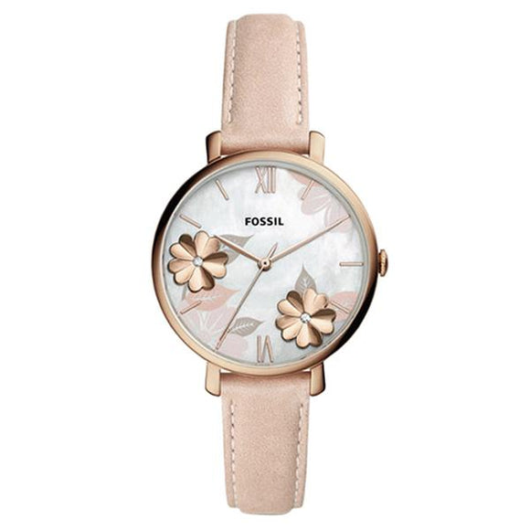 Fossil Women's Mother of Pearl Dial Leather Strap Analog Watch ES4671 1