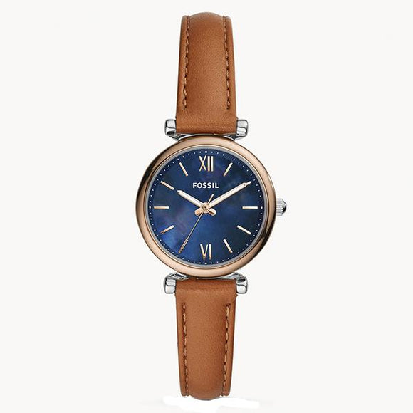 Fossil Women's Blue Dial Leather Strap Analog Watch - ES4701 1