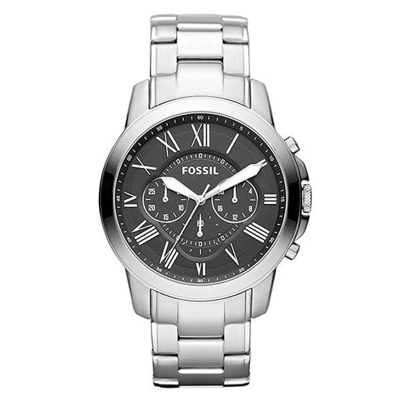 Fossil Men's Black Dial Stainless Steel Analog Watch - FS4736IE 1