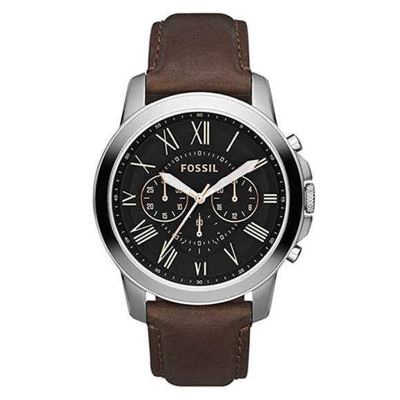 Fossil Men's Black Dial Leather Strap Analog Watch - FS4813IE 1