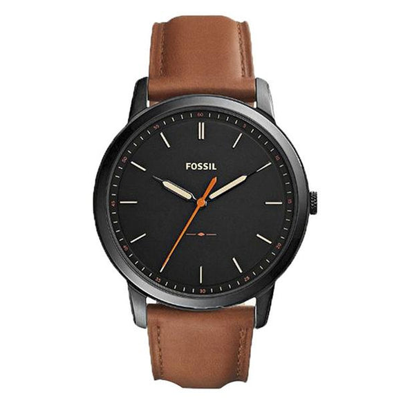 Fossil Men's Black Dial Leather Strap Analog Watch - FS5305 1