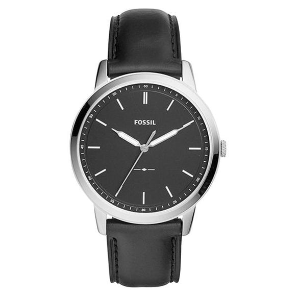 Fossil Men's Black Dial Leather Strap Analog Watch - FS5398 1
