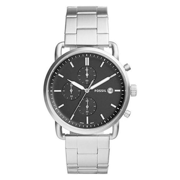 Fossil Men's Black Dial Stainless Steel Analog Watch - FS5399 1