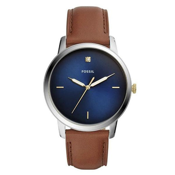 Fossil Men's Blue Dial Leather Strap Analog Watch - FS5499 1