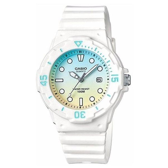 Casio Women's White (PU) Band Analog Watch LRW-200H-2E2 1