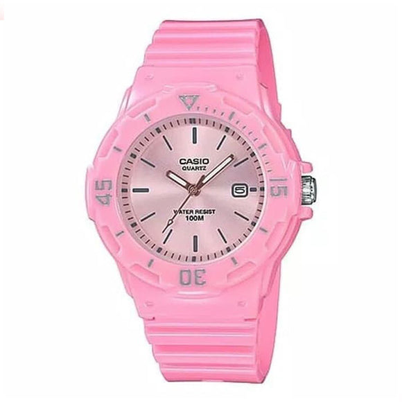 Casio Women's Pink Dial Analog Watch - LRW-200H-4E4