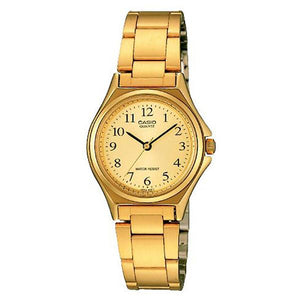 Casio Women's Champagne Dial Gold Plated Analog Watch - LTP-1130N-9B
