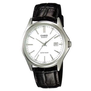 Casio Women's White Dial Leather Strap Analog Watch - LTP-1183E-7A