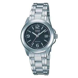 Casio Women's Black Dial Stainless Steel Watch - LTP-1215A-1A