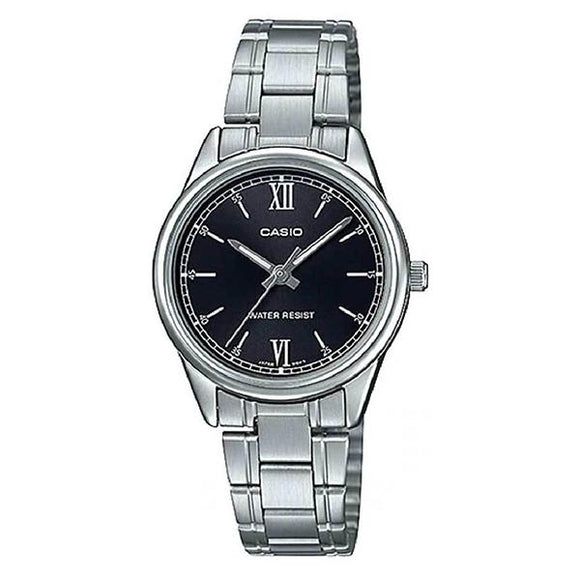 CASIO Black Dial Stainless Steel Band Analog Watch - LTP-V005D-1B2